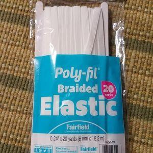 "COPY - POLY-FIL White Braided Elastic Band 1/4"""